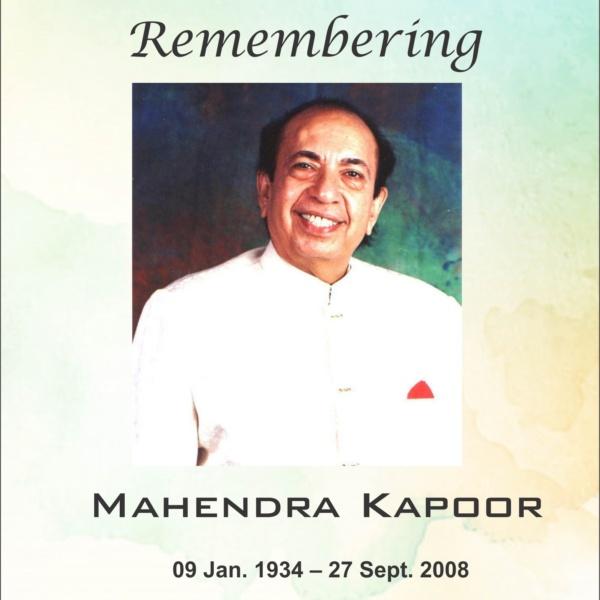 Singer Mahendra Kapoor birth anniversary