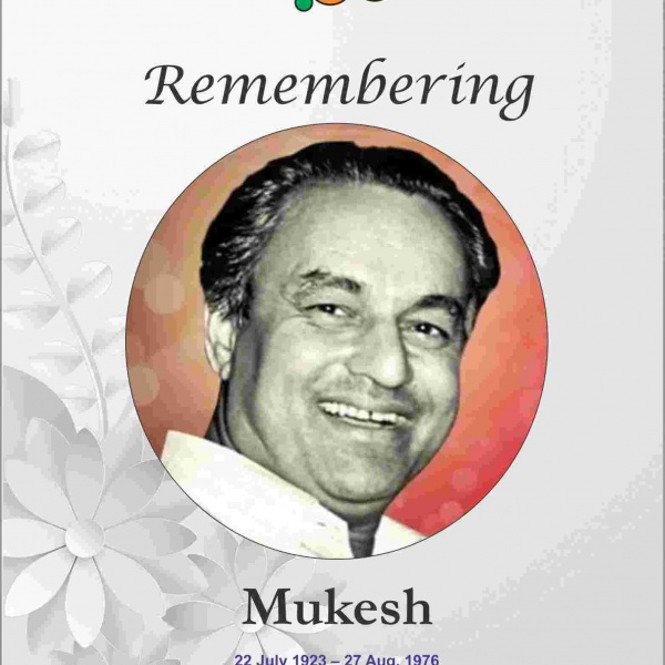 Remembering Finest Singer of Hindi Cinema Mukesh and his Musical Journey