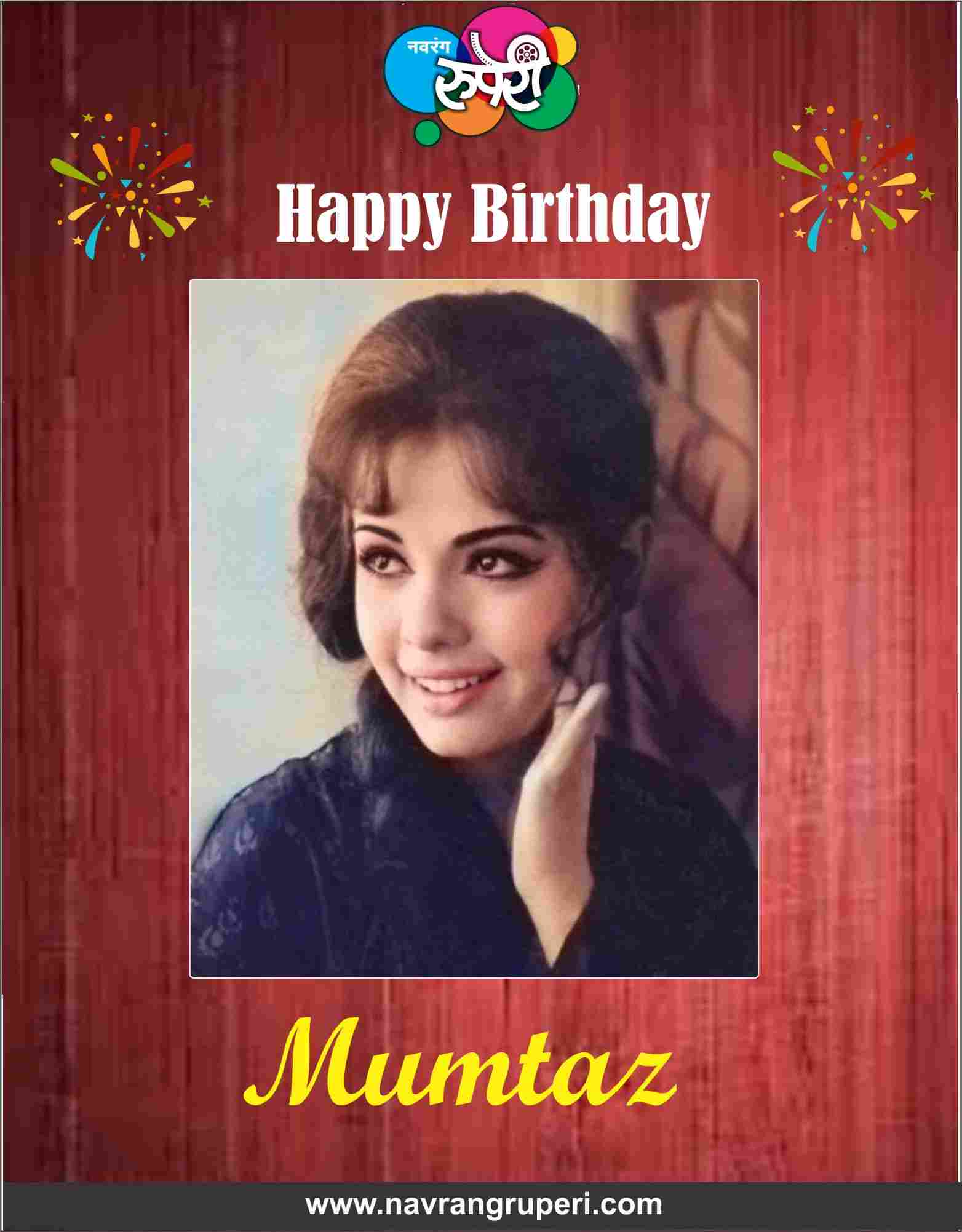 Hindi Cinema's Glamorous Actress from Golden Era, Actress Mumtaz