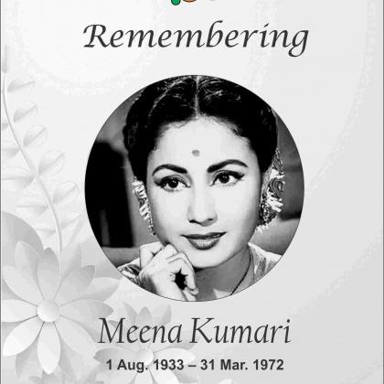 Actress Meena Kumari Hindi Cinema's Tragedy Queen