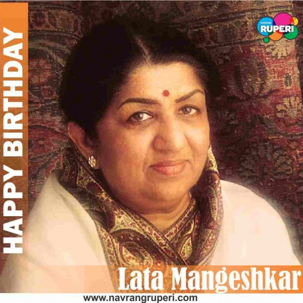 Birthday Greetings To Legendary Indian Singer Lata Mangeshkar